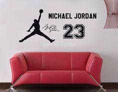 livraison gratuite michael jordan autocollant sticker mural art maisondécor basketball sports