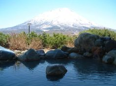 まっかり温泉 北海道真狩村の日帰り温泉 露天風呂からの羊蹄山の眺めが、すばらしい。 Hokkaido Japan