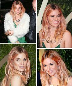Sienna Miller's Rose Gold Hair