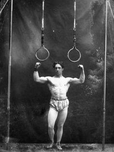 1930's Circus strong man poster (reprint)