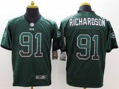 Men's New York Jets #91 Sheldon Richardson Nike Drift Fashion Green Elite Jersey