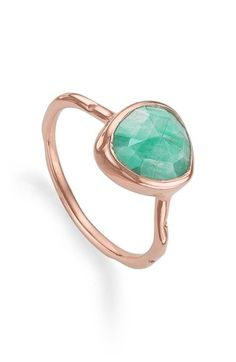 Monica Vinader 'Siren' Semiprecious Stone Stacking Ring