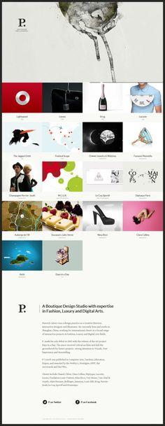 Pierrick Calvez - Boutique Design Studio - #Webdesign #inspiration www.niceoneilike.com