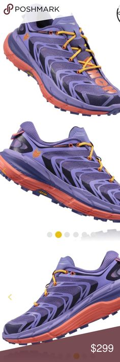 HOKA ONE ONE SNEAKERS AUTH HOKA shoes! new!! Rare color. Gorgeous purple! Size 7.5 speedgoat (Corsican blue/ neon coral) comes in org box! Reasonable OFFERS ACCEPTED 👍No trades ❌no pp Hoka Shoes Sneakers