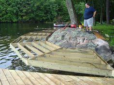 Lake Dock, Boat Dock, Platform Deck, Farm Pond, Beach Patio, Fish Ponds, Outside Living, Yard Design, River House