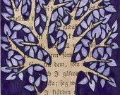 tree-tree, words, and purple-what could be better?