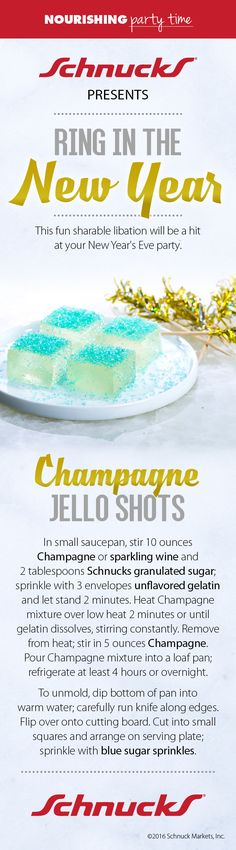 The perfect New Year's Eve Party drink: Champagne Jello Shots!