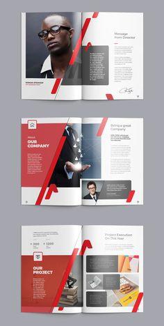 Company Profile Brochure Design Template Brochure, Design Brochure, Flyer Design, Company Profile Template, Company Profile Design, Cleaning Companies, Calendar Design, Graphic, Templates
