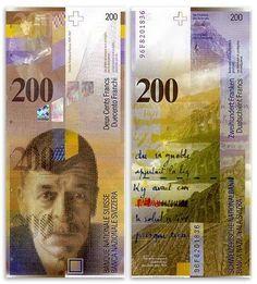 Switzerland  200 Franken 1996 (Charles-Ferdinand Ramuz)