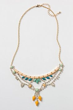 Noronha Bib Necklace | Anthropologie.eu . colored rhinestones