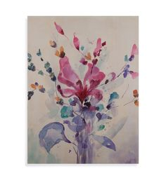 Thoroughly Modern Beautiful Bouquet Painting Print on Canvas