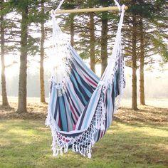Vie Brazilian Hammock Chair in Denim - so fun to swing in this! We had one we got on our honeymoon