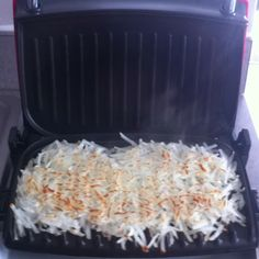 Best way to cook hash browns so that they get crispy on both sides! In the George Foreman grill!