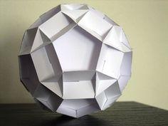sliceform - papercraft - decagons (George Hart) - tutorial - dutchpapergirl