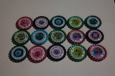 Geocache Coin Bottle Caps Trade Items  15 Pcs by Weebledogs
