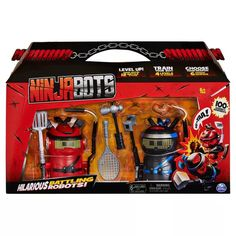 Ninja Bots Battling Robots With 6 Weapons - 2pk : Target
