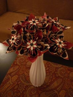 Red White & Black Bouquet by RooneyBlooms on Etsy. $22.00, via Etsy.