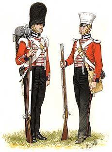 31st REGIMENT OF FOOT (HUNTINGDONSHIRE) GRANADERO y SOLDADO DE COMPAÑIA DE LINEA - 1839. Más en www.elgrancapitan.org/foro
