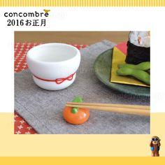 デコレ(decole)コンコンブル(concombre)まったりお正月/お猪口&箸置き使用イメージ