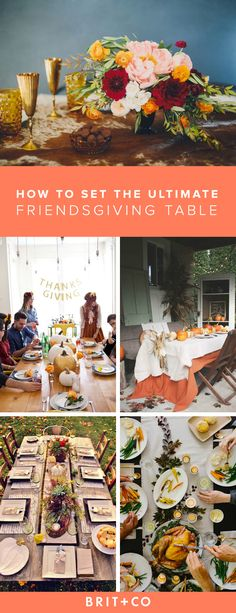 Get Thanksgiving + Friendsgiving table decoration inspo from these stunning setups.