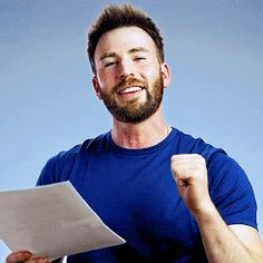 Chris Evans | Such a cutie pie <3<3<3 -B.R.
