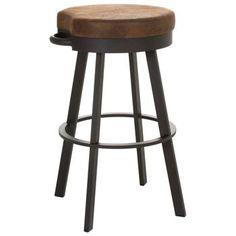 vintage extra tall bar stools | ... Furniture - Bryce 34'' Extra Tall Bar Stool - Swivel Seat, Backless