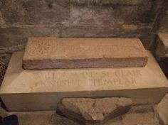 Gravestone of William Sinclair - a Knight Templar? - Rosslyn Chapel, Scotland