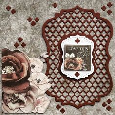 Home - Kaisercraft Blog. Card 'Love this Life' by Lisa Amiet Design Team member for Kaisercraft Official Blog. Lisa has used the February 2019 'Rosabella' Collection featuring Decorative Die - DD632 - Ornate Layered Bracket. For a list of products and full instructions fo to kaisercraft.com.au/blog ~ Wendy Schultz ~ Kaisercraft Projects 2.