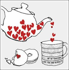 We go together like tea & biscuits ❤️ love cards