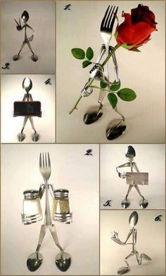 Triumphant specified welding metal art projects Metal Projects, Welding Projects, Metal Crafts, Art Projects, Fork Crafts, Project Ideas, Fork Art, Spoon Art, Recycled Crafts