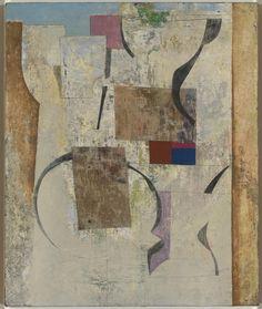 "hipinuff: ""Ben Nicholson (British: 1894-1982), Italian Wall, 1955, Oil on canvas. """