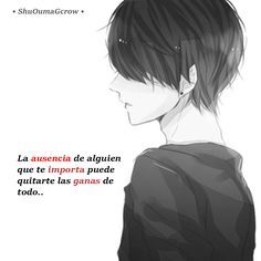 La ausencia de alguien #ShuOumaGcrow #Anime #Frases_anime #frases