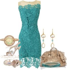 """Teal and Opal"" by momfor2girls ❤ liked on Polyvore"