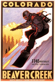 I used to patrol in Beaver Creek, CO. Every night I would walk by a store that had this print in the window. I want it framed and in my house someday.