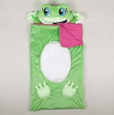 $9.50 Side Smiling Frog Sleeping Bag - Gift Blankets & Sleeping Bags - Events