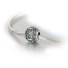 Aurora White Glass & Silver Lace Charm Bead. Compatible with Pandora and others. #weddingcharms #weddingcharm #lace #lacecharm #lacebead #lacenecklace #lacebracelet #lacejewelry #lacependant #lacejewellery #weddingjewelry #wedding #bride #bridalcharm #bridaljewelry compatible w/ #Pandora, #chamilia, #ohmbeads #trollbeads #redbalifrog, etc