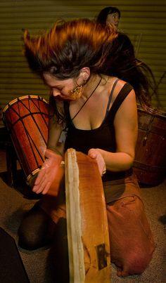 Frame Drum...Wild Marmamald Rythum Hut