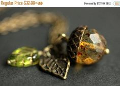 HALLOWEEN SALE Acorn Necklace. Mottled Fawn Acorn Pendant. Crystal Acorn Necklace. Acorn Charm Necklace in Bronze. Acorn Jewelry. Handmade J by StumblingOnSainthood from Stumbling On Sainthood. Find it now at http://ift.tt/2zqxL3D!