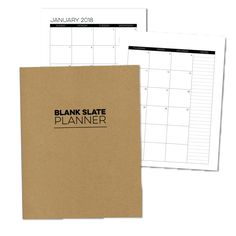 7x9 Blank Slate Monthly Planner