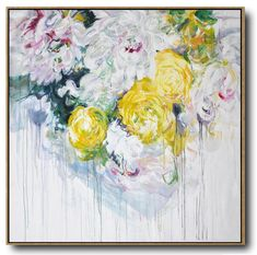 Over sized Hand-painted abstract flower oil painting on canvas. We aim to offer interior designers, stagers, decorators, builders, etc. with multiple choices of hand-painted original paintings. In the last 10 years, the more we work with them, the better we know how to improve our work to meet their demand.