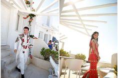 Real Wedding: Indian Wedding in Santorini, event design www.stellaandmoscha.com