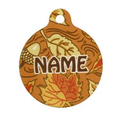 Yellow Dog Design Fall Leaves Personalized Hi Def Pet ID Tag with Silencer >>> Want to know more, click on the image. (This is an Amazon affiliate link)