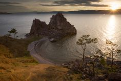 Shaman Rock on Olkhon Island in Lake Baikal, the largest lake in the world. #russia #travel