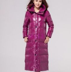 Chic-Women-Hooded-95-Down-Coat-Winter-Warm-Shiny-Snow-Jacket-Long-Outwear-Parka