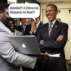 É, a Dilma ficou de mal do homem mesmo....