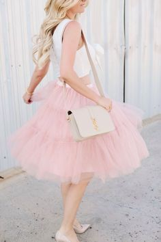 Pink tulle skirt