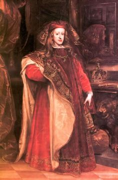 """King Charles II of Spain, popularly known as """"The bewitched"""" he was the last of the House of Austria in Spain, he was disfigured, sickly and esterile, most likely because of the very high inbreeding of his ancestors. Marriages between uncles and nieces was common in his royal house."""