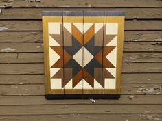 This one goes to Dylan in grey, dk grey, red, and black. Barn Quilt Designs, Barn Quilt Patterns, Quilting Designs, Quilting Ideas, Star Quilts, Quilt Blocks, Painted Barn Quilts, Barn Signs, Barn Wood Crafts