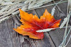 Laubblatt aus Keramik, Herbstlaub, Schale von karolart auf Etsy