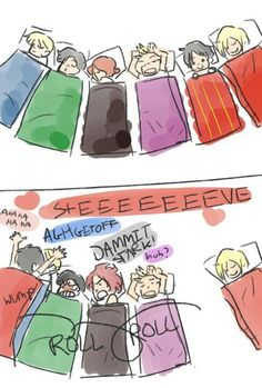 Stony! (I love how Thor keeps on sleeping... XD)
